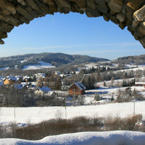 Widok z golgoty na stację Tylicz.ski